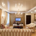 Натяжные потолки в гостиной, фото 4