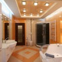 Натяжные потолки в ванной, фото 3