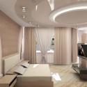 Натяжные потолки в спальне, фото 12